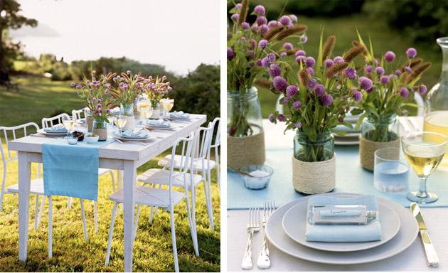 Purple And Blue Wedding